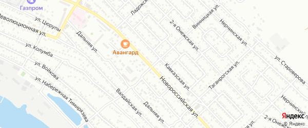 Винницкая улица на карте Астрахани с номерами домов