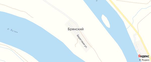 Береговая улица на карте Брянского поселка с номерами домов