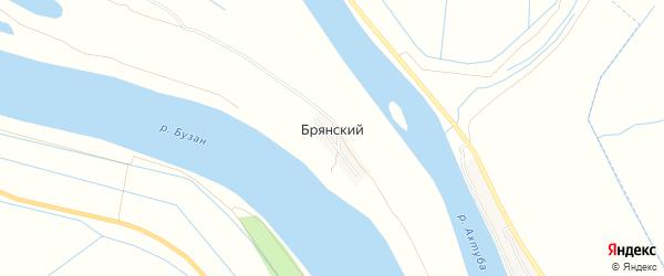 Карта Брянского поселка в Астраханской области с улицами и номерами домов