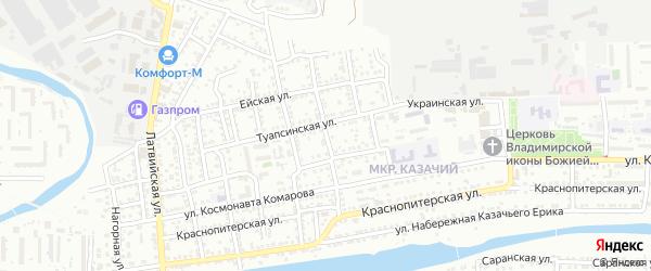 Мелитопольская 2-я улица на карте Астрахани с номерами домов