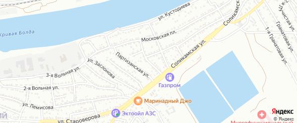 Перекопский переулок на карте Астрахани с номерами домов