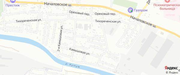 Тихореченский 3-й переулок на карте Астрахани с номерами домов