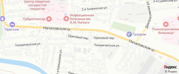 Инфекционный 2-й переулок на карте Астрахани с номерами домов
