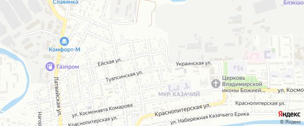 Приволжская улица на карте Астрахани с номерами домов