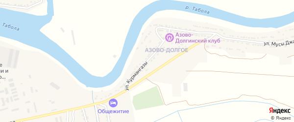 Улица Курмангазы на карте села Затона с номерами домов