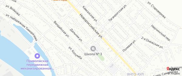 Таганрогский переулок на карте Астрахани с номерами домов