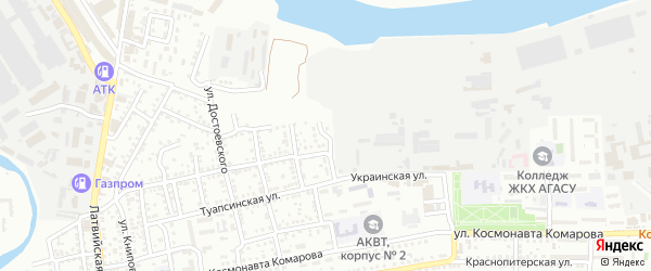 Луганская улица на карте Астрахани с номерами домов