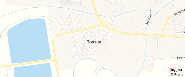 Березовая улица на карте поселка Поляны с номерами домов