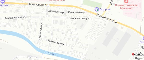 Тихореченский переулок на карте Астрахани с номерами домов
