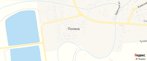 Цветочная улица на карте поселка Поляны с номерами домов
