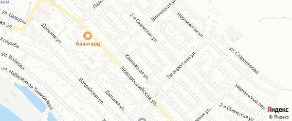 Улица Кавказская 6-й проезд на карте Астрахани с номерами домов