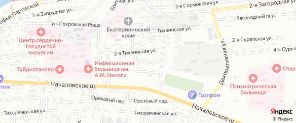 Сурепская 4-я улица на карте Астрахани с номерами домов