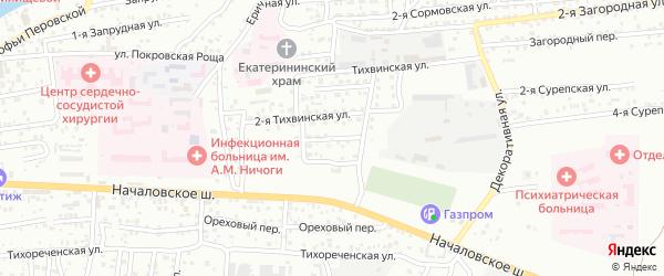 Тихвинская 4-я улица на карте Астрахани с номерами домов