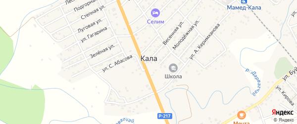 Школьная улица на карте села Калы с номерами домов