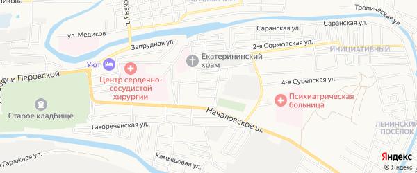 СТ Покровская роща на карте Астрахани с номерами домов