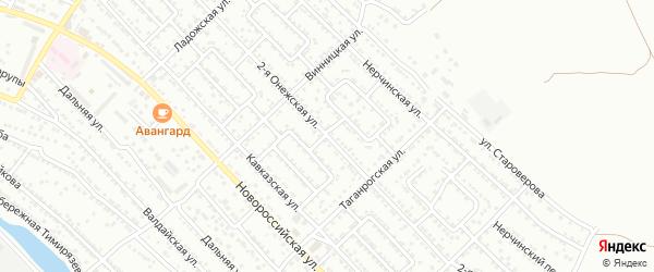 Онежская 2-я улица на карте Астрахани с номерами домов