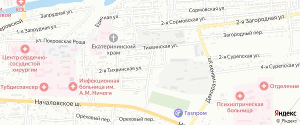 Минусинский переулок на карте Астрахани с номерами домов