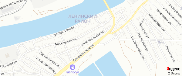Московская 2-я площадь на карте Астрахани с номерами домов