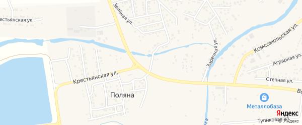 Придорожная улица на карте села Три Протоки с номерами домов