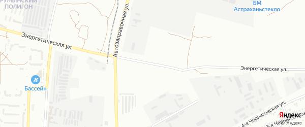 Улица Энергетическая 4-й проезд на карте Астрахани с номерами домов