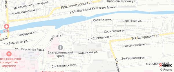 Полесский переулок на карте Астрахани с номерами домов