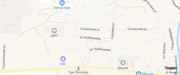 Улица Куйбышева на карте села Три Протоки с номерами домов