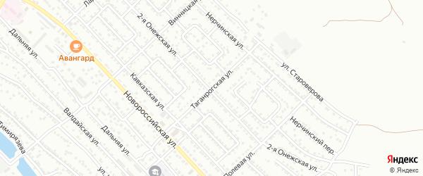 Таганрогская улица на карте Астрахани с номерами домов
