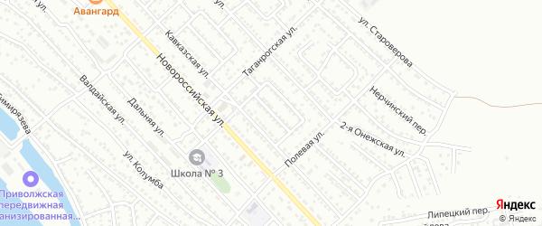 Улица Кавказская 8-й проезд на карте Астрахани с номерами домов
