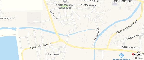 Тупиковая улица на карте села Три Протоки с номерами домов