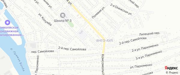 Онежская улица на карте Астрахани с номерами домов