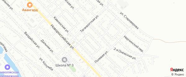 Улица Кавказская 7-й проезд на карте Астрахани с номерами домов