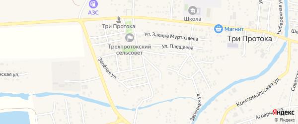 Астраханская улица на карте села Три Протоки с номерами домов