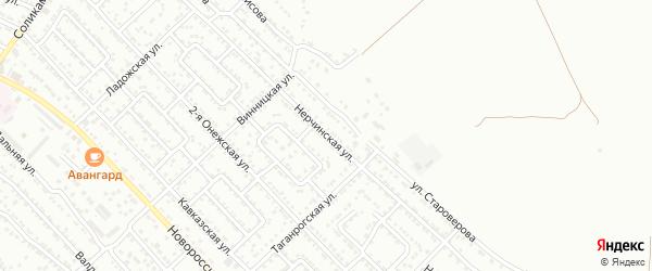 Нерчинская улица на карте Астрахани с номерами домов