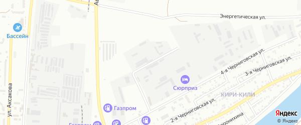 Березовый 3-й проезд на карте Астрахани с номерами домов