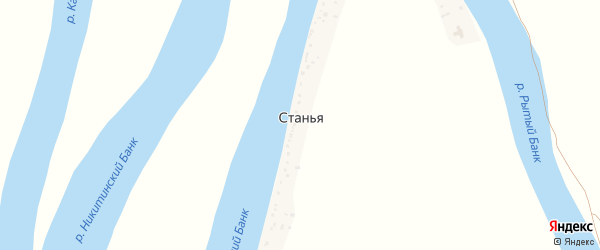 Рыбацкая улица на карте поселка Станьи с номерами домов