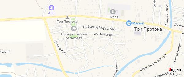 Звездная улица на карте села Три Протоки с номерами домов