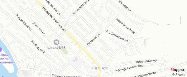 Полевая улица на карте Астрахани с номерами домов