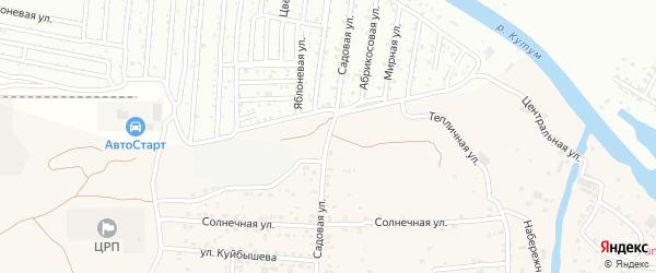Садоводческая улица на карте села Три Протоки с номерами домов