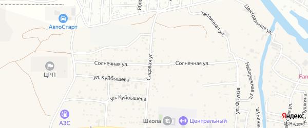 Солнечная улица на карте села Три Протоки с номерами домов