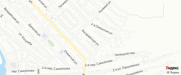 Аксарайская улица на карте Астрахани с номерами домов