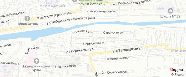 Подольская улица на карте Астрахани с номерами домов