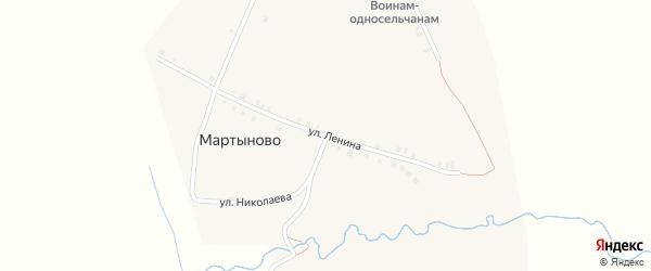 Улица Ленина на карте деревни Мартыново с номерами домов