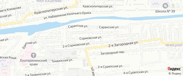 Сормовская улица на карте Астрахани с номерами домов
