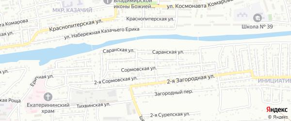 Сормовская 3-я улица на карте Астрахани с номерами домов