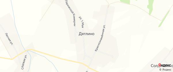 Карта деревни Дятлино в Чувашии с улицами и номерами домов