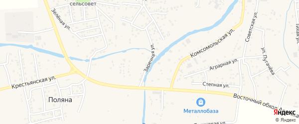 Заречная улица на карте села Три Протоки с номерами домов