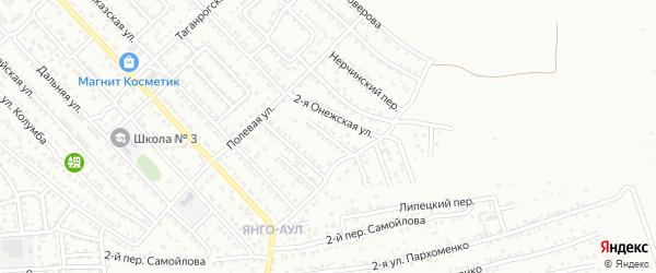 Онежский переулок на карте Астрахани с номерами домов