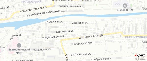 Вятская улица на карте Астрахани с номерами домов