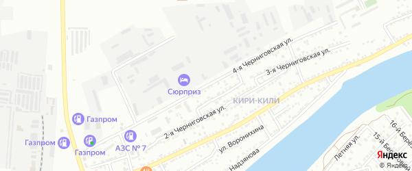Черниговская 4-я улица на карте Астрахани с номерами домов