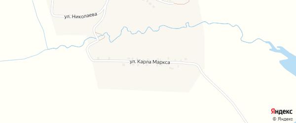 Улица К.Маркса на карте деревни Мартыново с номерами домов